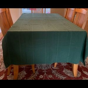 """Other - Green Tablecloth 84""""L by 52""""W Rectangle"""
